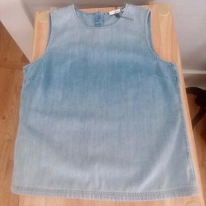 AG Adriano Goldschmied Chambray Denim Tank Large